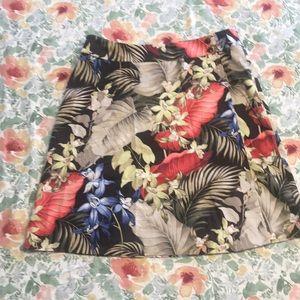 Tommy Bahama 100% silk wrap skirt sz10